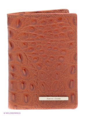 Обложка для паспорта Gianni Conti. Цвет: светло-коричневый