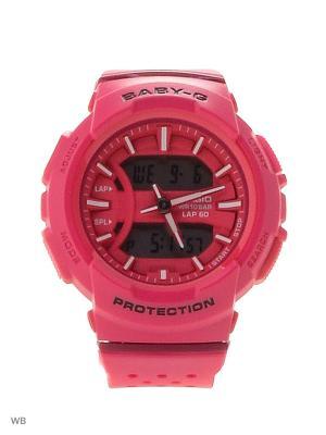 Часы Baby-G BGA-240-4A CASIO. Цвет: розовый