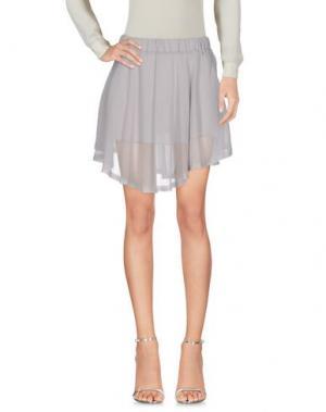 Мини-юбка ENZA COSTA. Цвет: серый