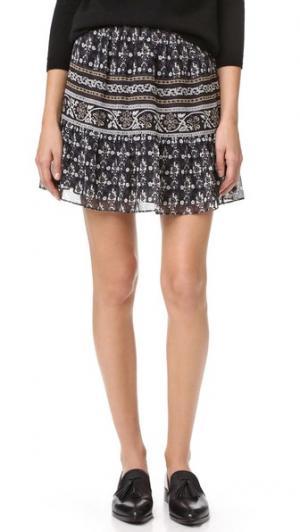 Короткая юбка Madewell. Цвет: серый