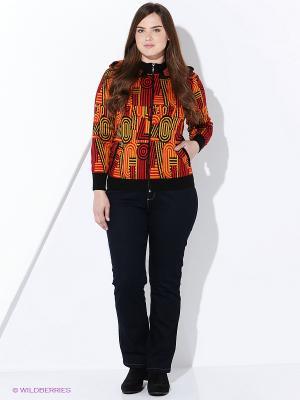 Кофта Milana Style. Цвет: оранжевый, черный