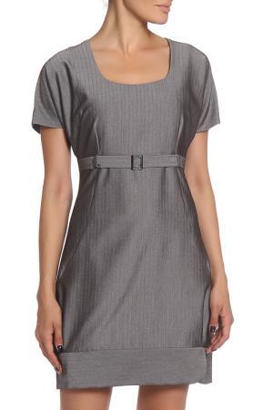 Платье MODART. Цвет: серый, елочка