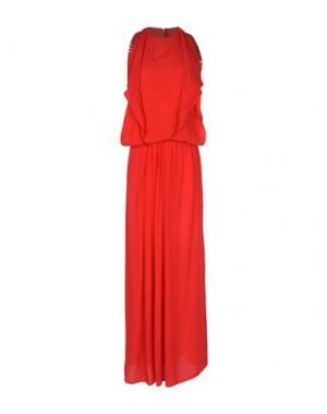 Длинное платье 8PM. Цвет: красный