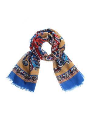 Платок Gusachi. Цвет: синий, коричневый, голубой, розовый