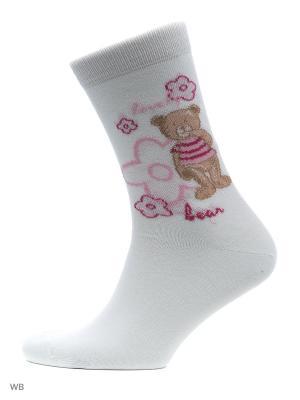 Носки, 4 пары Malerba. Цвет: молочный