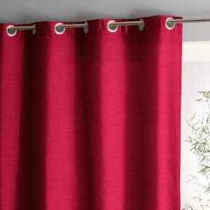 Штора с люверсами шелковым эффектом, Nyeri La Redoute Interieurs. Цвет: белый,красный,светло-серо-коричневый,серый жемчужный,сиреневый