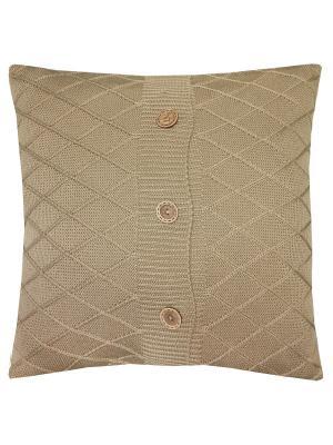 Вязаный чехол для подушки Beige rhomb Altali. Цвет: бежевый