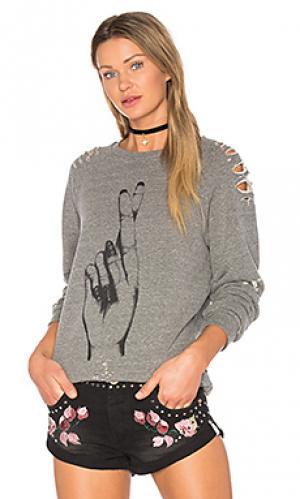 Рваный пуловер jetta Lauren Moshi. Цвет: серый