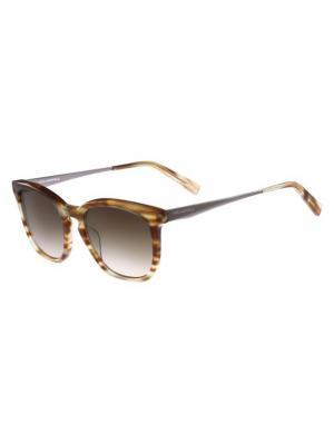 Очки солнцезащитные KL 896S 045 Karl Lagerfeld. Цвет: коричневый