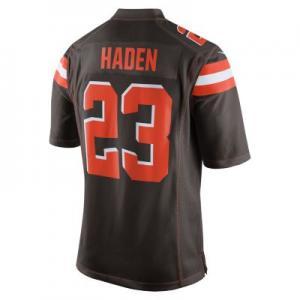 Мужское джерси для американского футбола игры на своем поле NFL Cleveland Browns (Joe Haden) Nike. Цвет: коричневый