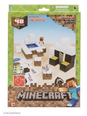 Игровой мир Снежный биом Minecraft. Цвет: зеленый