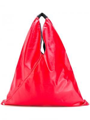Большая сумка-тоут Mm6 Maison Margiela. Цвет: красный