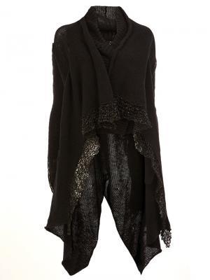 Draped cardi-coat Masnada. Цвет: чёрный