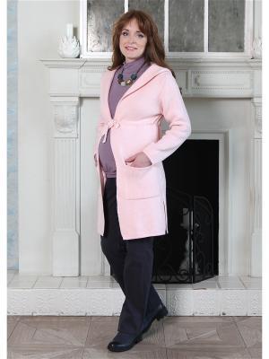 Кардиган-пальто Мамуля красотуля. Цвет: бледно-розовый, розовый