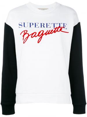 Толстовка Supertte Baguette Être Cécile. Цвет: белый