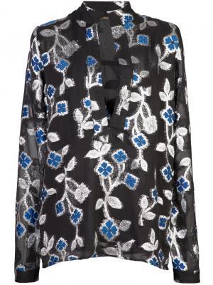 Блузка с цветочной вышивкой Dodo Bar Or. Цвет: чёрный
