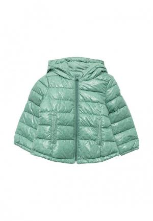 Куртка утепленная United Colors of Benetton. Цвет: зеленый