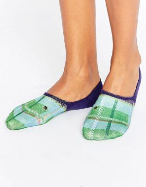 Stance Низкие носки. Цвет: зеленый