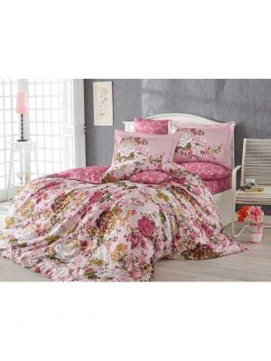 Кпб семейный сатин ROSANNA, розовый HOBBY HOME COLLECTION. Цвет: розовый