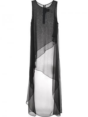 Шелковое платье Stud Thomas Wylde. Цвет: чёрный