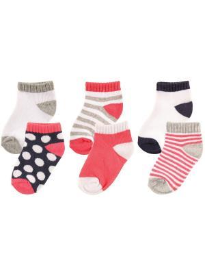 Носки, 6 пар Luvable Friends. Цвет: розовый