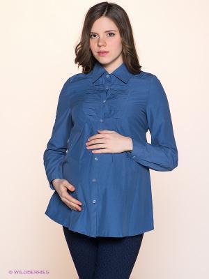 Блузка I love mum. Цвет: серо-голубой