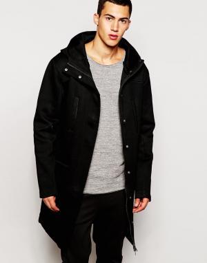 2 x H Brothers Неопреновая куртка с капюшоном 2xH. Цвет: черный