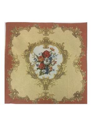 Гобеленовая наволочка 45х45 см Рапира. Цвет: золотистый, белый, красный