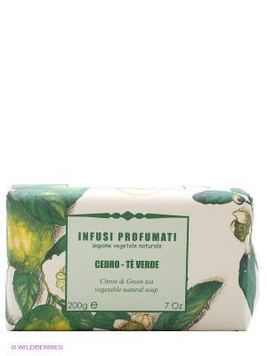 Натуральное  мыло с цитроном и зеленым чаем, 150 гр Iteritalia. Цвет: зеленый