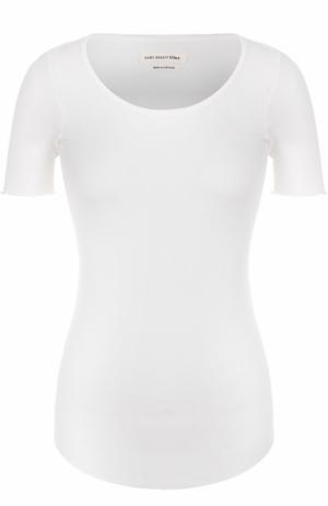 Облегающая футболка с круглым вырезом Isabel Marant Etoile. Цвет: белый