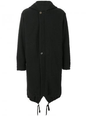 Пальто с капюшоном Paul Uma Wang. Цвет: чёрный
