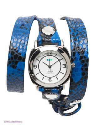 Часы La Mer Collections. Цвет: серебристый, синий