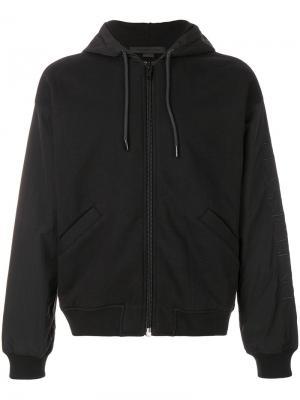 Куртка с капюшоном Alexander Wang. Цвет: чёрный