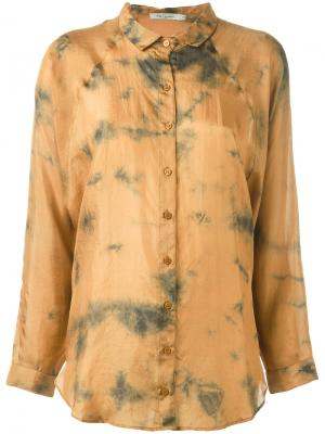 Рубашка на пуговицах Mes Demoiselles. Цвет: жёлтый и оранжевый