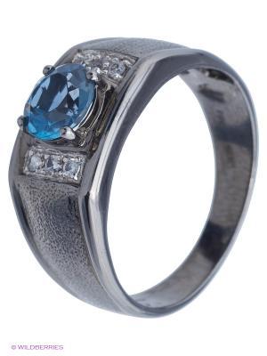 Кольцо JV ДЖЕЙ ВИ. Цвет: синий, черный