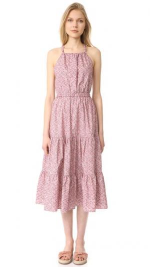 Платье Meadow с цветочным рисунком La Vie Rebecca Taylor. Цвет: розовый