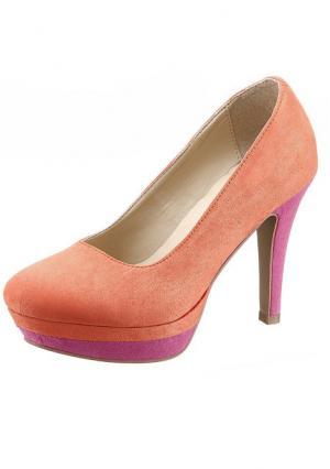 Туфли Andrea Conti. Цвет: оранжевый/ярко-розовый