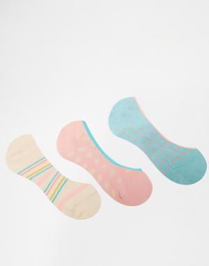 Penguin 3 пар носков в горошек. Цвет: pastel spot