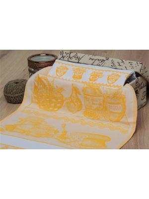Набор кухонных полотенец ПОГРЕБОК цв. желтый 40х60 (2шт.) TOALLA. Цвет: желтый