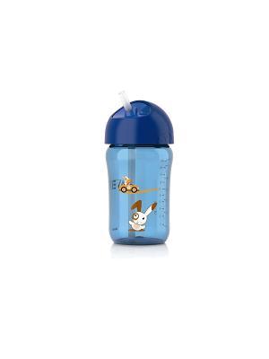 Чашка с трубочкой Philips Avent SCF762/00, 340 мл, 18 мес.+. Цвет: голубой