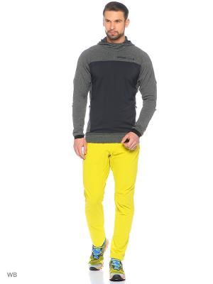 Трикотажные брюки Adidas. Цвет: желтый