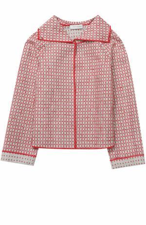 Жакет с контрастной вышивкой I Pinco Pallino. Цвет: серый
