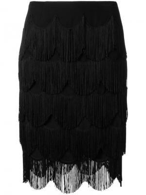 Юбка с бахромой Marc Jacobs. Цвет: чёрный