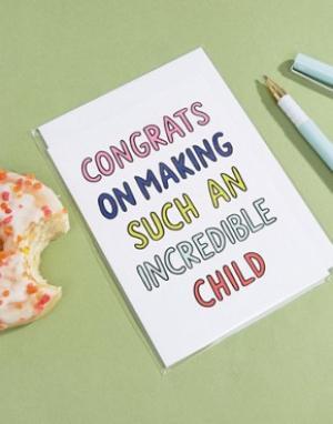 Veronica Dearly Открытка на день отца Congrats. Цвет: мульти