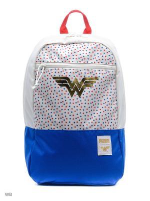 Рюкзак Wonder Woman Backpack PUMA. Цвет: молочный, голубой