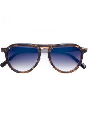 Солнцезащитные очки-авиаторы Oamc. Цвет: коричневый