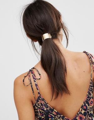 DesignB London Заколка для волос в форме арки. Цвет: золотой