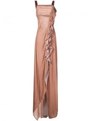 Вечернее платье Velvet Wonderland Bianca Spender. Цвет: телесный