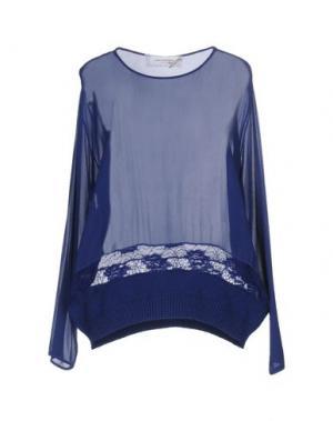 Блузка ANNA RACHELE JEANS COLLECTION. Цвет: темно-синий