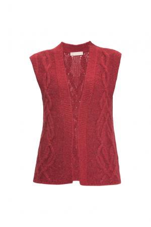 Жилет 154532 Sweet Sweaters. Цвет: красный